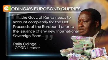 Ottobre 2016. Raila Odinga chiede al governo di spiegare come sono stati spesi più di 200 miliardi di scellini in Eurobond.