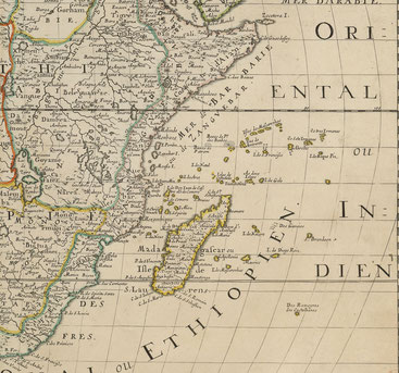 Isole dell'Africa nel Mar Indiano - 1650