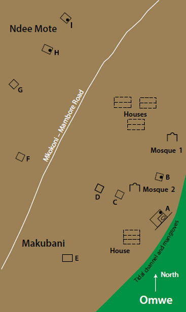 Mappa di Omwe
