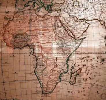 Mappa tracciata nel 1725