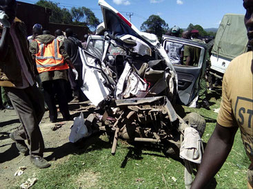 Il pauroso incidente sulla superstrada Eldoret-Nakuru