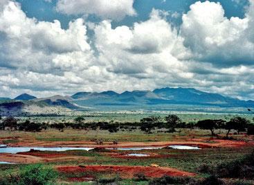 Chyulu Hills. Parco Nazionale Tsavo Ovest