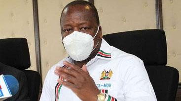 Mutahi Kagwe, segretario del gabinetto sanitario del Kenya