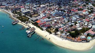 Vista aerea di Stone TownZanzibar