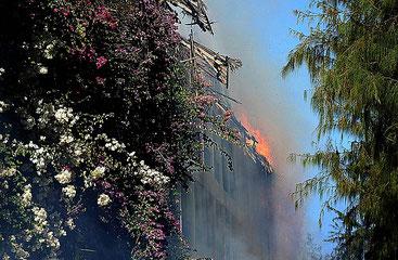 Incendio a Malindi