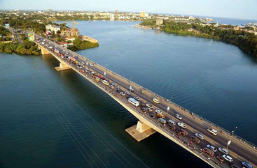 Nyali bridge is the link between the North Coast and Mombasa Island.
