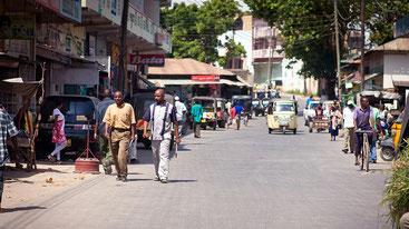 Nel centro di Malindi