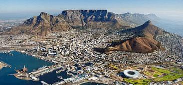 La bella, ma molto pericolosa, città di Cape Town (Città del Capo) in Sudafrica