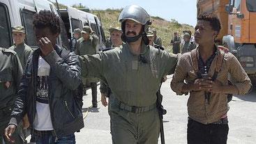 Arresti di migranti sub-sahariani a Tangeri in Marocco