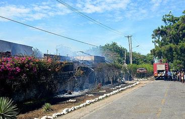 In fiamme il Dorado Cottages di Malindi