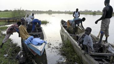Pescatori sul Lago Ciad
