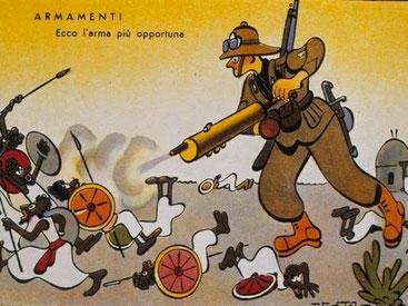 La guerra d'Etiopia, 3 ottobre 1935-9 maggio 1936, fu per l'Italia la vergognosa guerra del gas