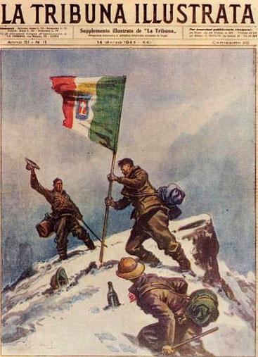 La scalata del monte Kenya dei tre prigionieri di guerra italiani-La Tribuna Illustrata del 14 marzo 1943