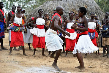 Giriama people from Malindi, Kenya performing traditional dance