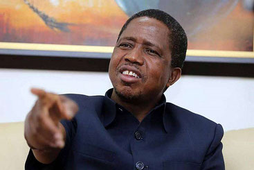 Il presidente dello Zambia Edgar Lungu