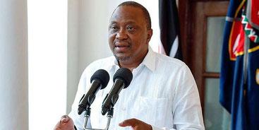 Il Presidente del Kenya Uhuru Kenyatta