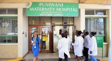 L'ingresso del Pumwani Maternity Hospital di Nairobi
