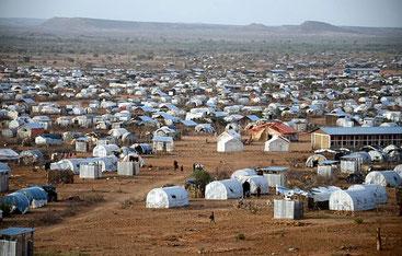 Il campo dei profughi somali di Dadaab, in territorio keniota