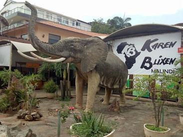 Veduta esterna del Bar-Ristorante Karen Blixen di Malindi