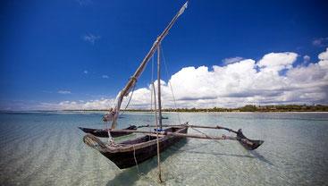Traditional Sailing. Galu Kinondo Beach