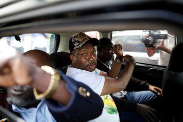 Il governatore di Nairobi Mike Sonko dopo essere stato arrestato il 6.12.2019