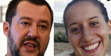 Matteo Salvini e Silvia Romano