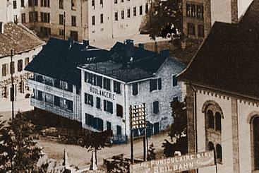 Bei der Rosiusstrasse musste die Häuserzeile mit Bäckerei (ehemalige Obere Mühle) dem nord-östlichen Pavillon vom Technikum Platz machen.