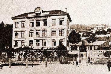Uhrmacherschule Biel, 1876, F; Reproduktion v. Technikum-Rapport 1910