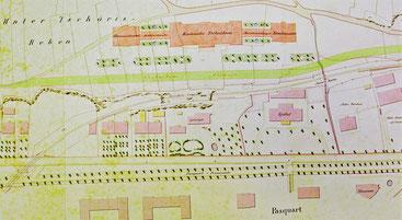 Unverwirklichter Plan von J. J. Vögeli, 1891, Staatsarchiv Bern