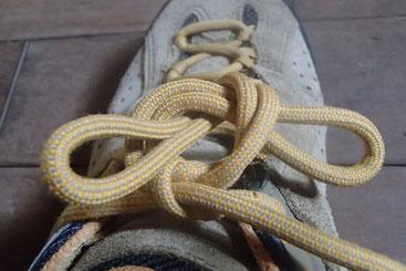 登山靴 靴紐の結び方