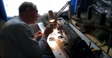 Dachstein Woolwear worker sewing quality sweaters