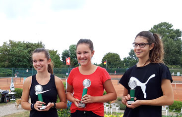 (von links: Amelie Rohrbach, Lena Hlawatschek, Maren Busam)