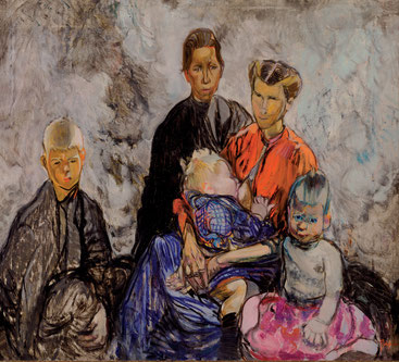 Frances Hodgkins  'Belgian Refugees' (Christchurch Art Gallery, New Zealand)