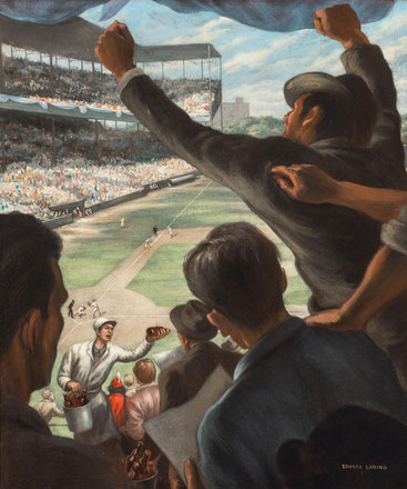 """Immagine  tratta da """"The Art of Baseball"""" Concord Museum"""