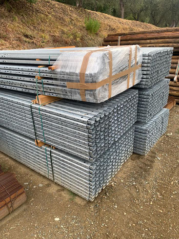strip galvanized metal post