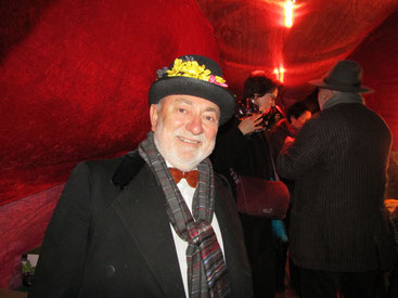 Hausherr Friedl Umschaid, Veranstalter des Erdballes in Herrnbaumgarten.