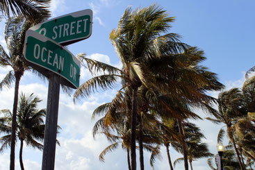 Ocean Drive in Miami Beach, Florida, USA
