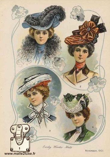 chapeau malle a chapeau ancien louis vuitton et goyard