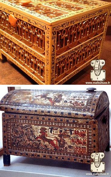 coffre bois ancien époque Egypte