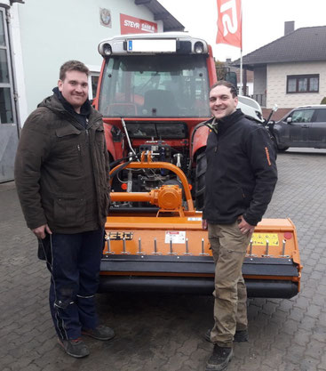 v.l. Christoph Ortner mit Johannes Maringer