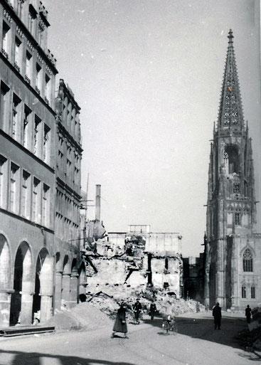 Der Prinzipalmarkt im Juni 1945
