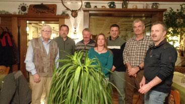 von links: Hans Münz, Manuel Naas, Klaus Bondes, Melanie Kiermeier, Frank Kiermeier, Horst Stellwag, Dieter Schwinn