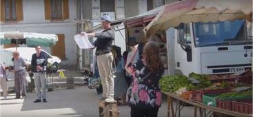 Bruno Pullano au marché de Marigny-en-Orxois.
