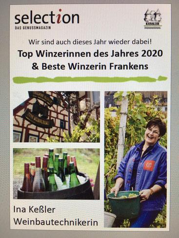Ina Kessler ist Beste Winzerin in Franken