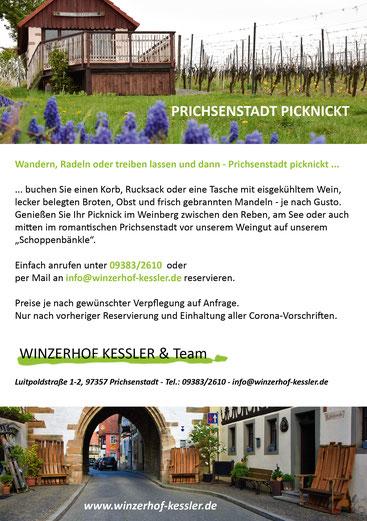 Picknick in Prichsenstadt mit Wein
