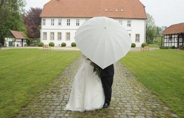 Hochzeitsfotos bei Regen