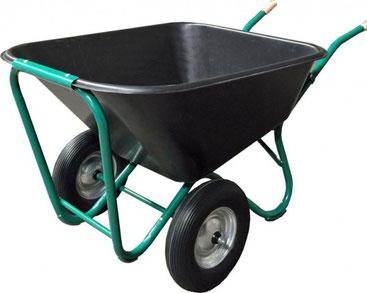 Großmuldenkarre, Hofkarre mit 200 Liter Mulde, für den täglichen Einsatz in Haus, Hof und Stall.