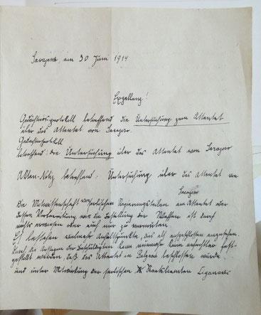 kurrent geschriebener brief