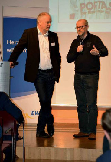 VfL Präsident Bartels im Interview mit Thomas Schaaf, Ex- Meistertrainer von Werder Bremen