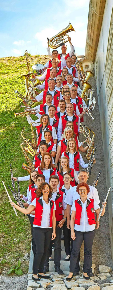 Der Musikverein Longkamp. Foto: Marc Föhr